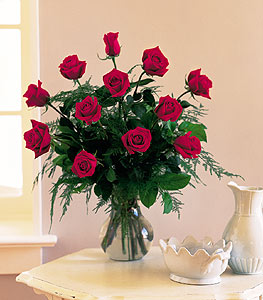Classic One Dozen Red Roses